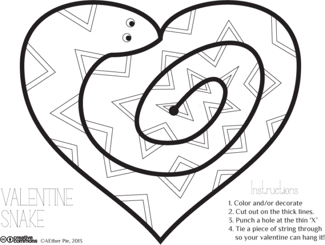 Valentine Snake art project